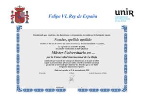 Diploma Máster Oficial Europeo