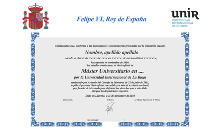 Diploma Master Oficial Europeo