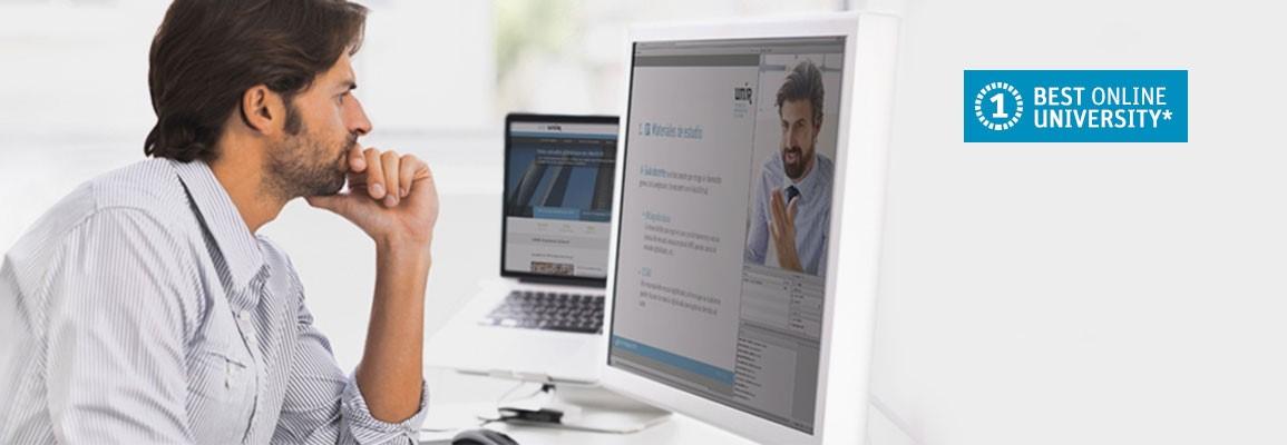 Alumna asistiendo a clases online