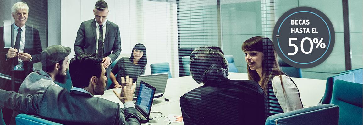 Equipo de trabajo en una reunión